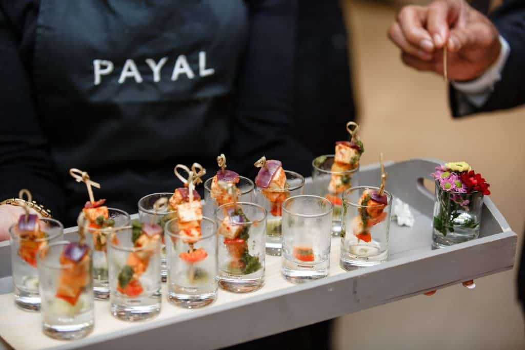 PR branding photos of a drinks reception for payal