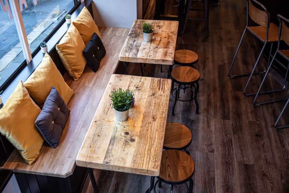 Interior Photography of a Bespoke Handmade Wood Bar Furniture