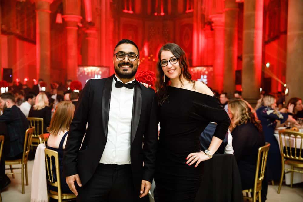 couple at an award ceremony