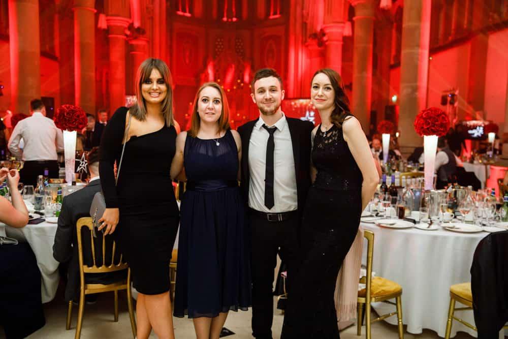 group photo at awards dinner