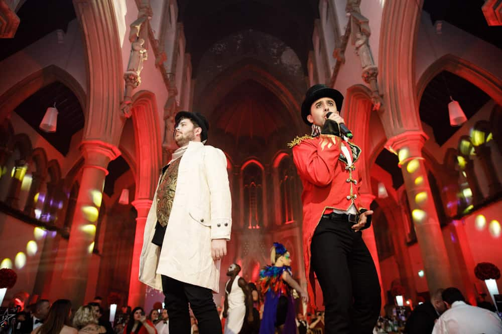 the greatest showman live event at the monastery event space manchester