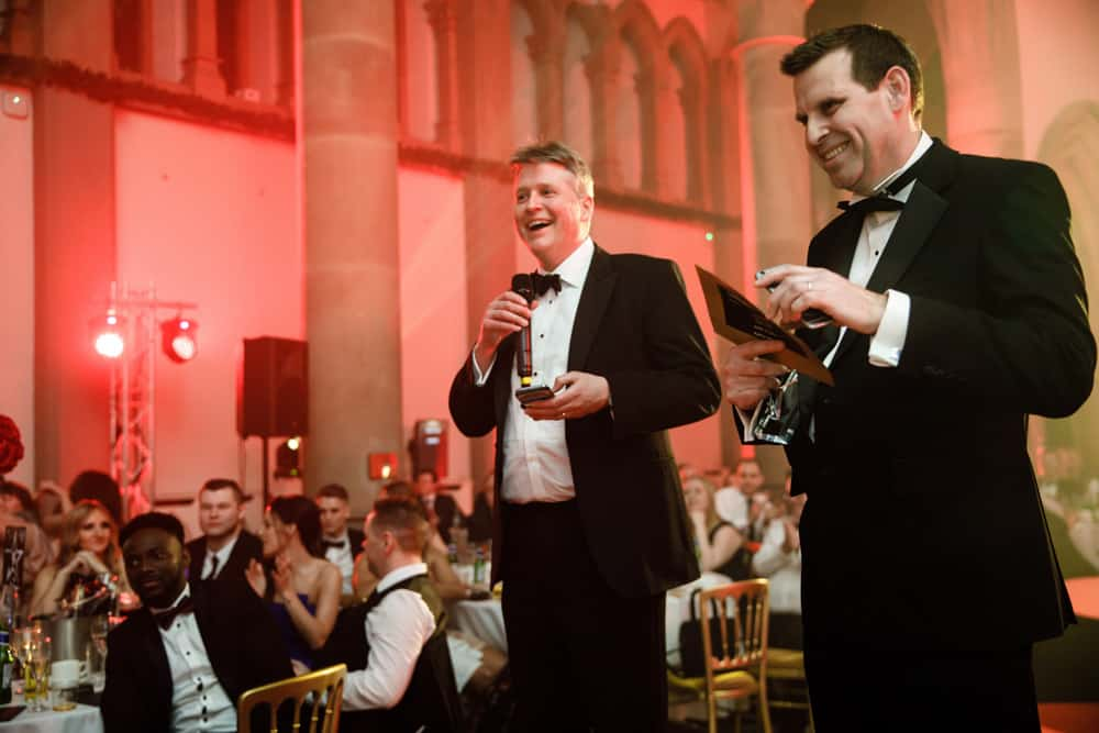 presenters at awards dinner
