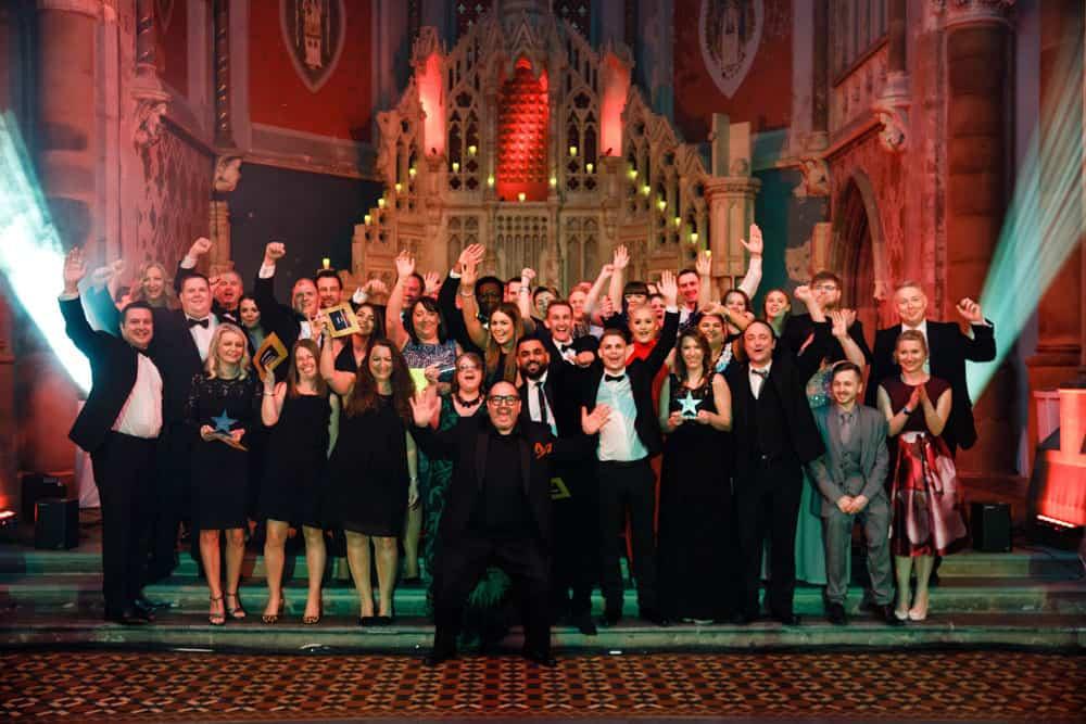 group photo of award winners