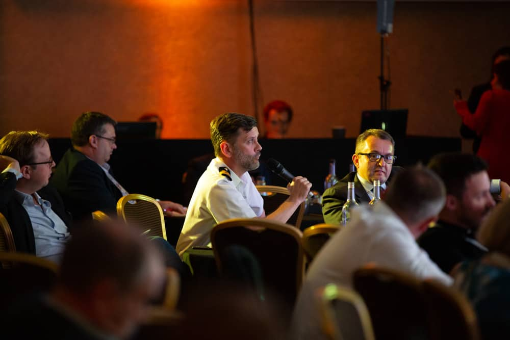 question time during a conference at the midland manchester