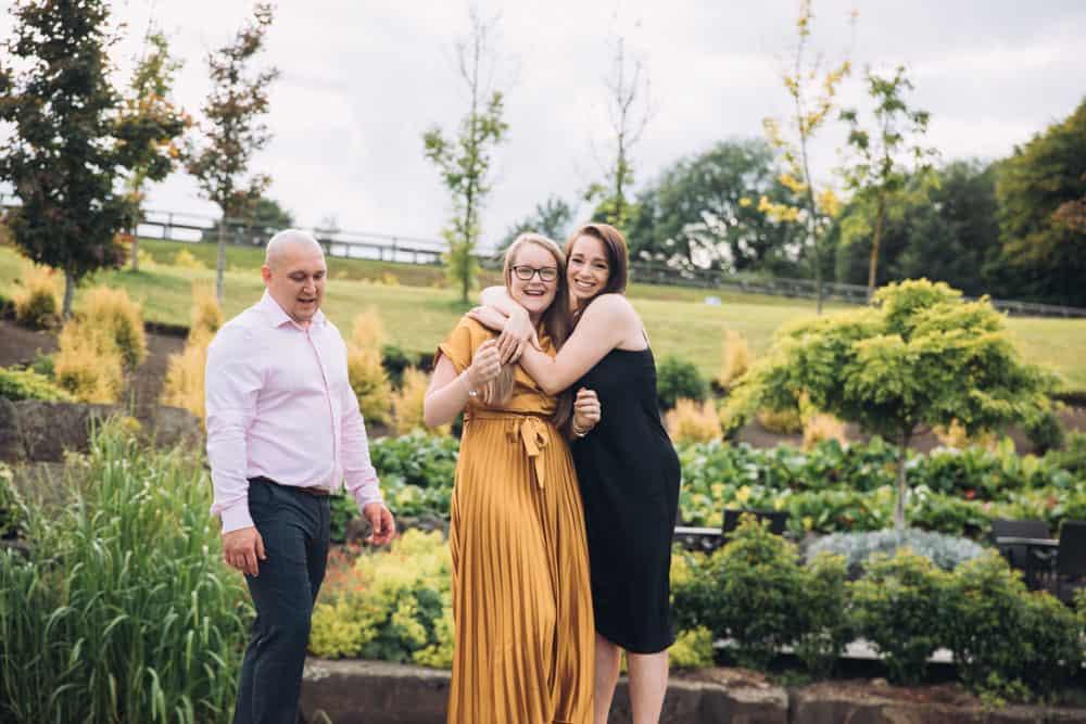 family having a laugh