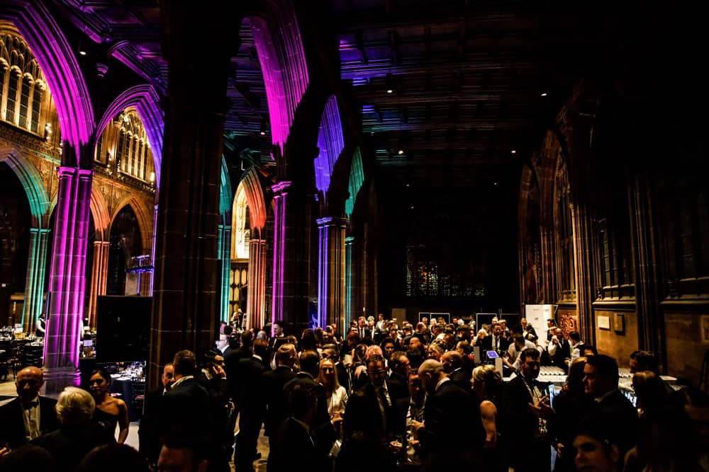 a good turn out for tonights event at manchester cathedral