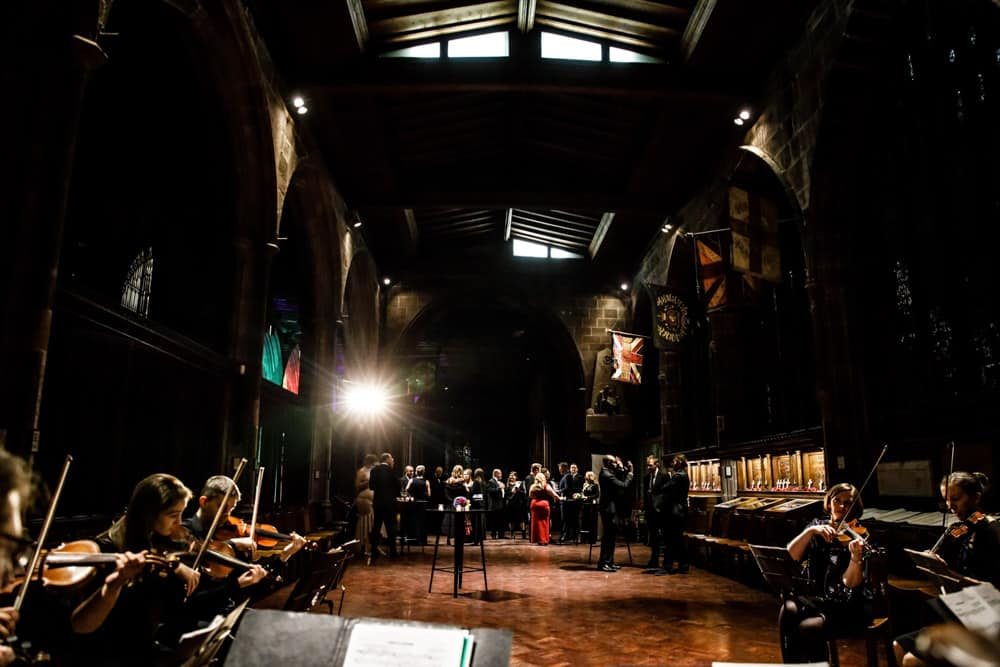 the orchestra at manchesters cathedral
