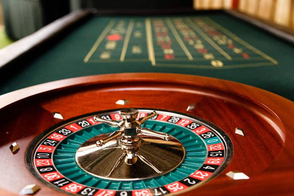 Casino table at park house barn in the lakes