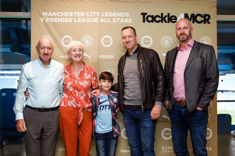 manchester city football club step and repeat board photographs