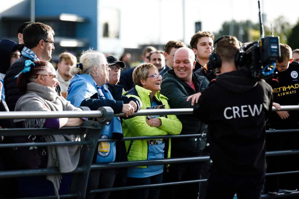 manchester city football club football match tv crew