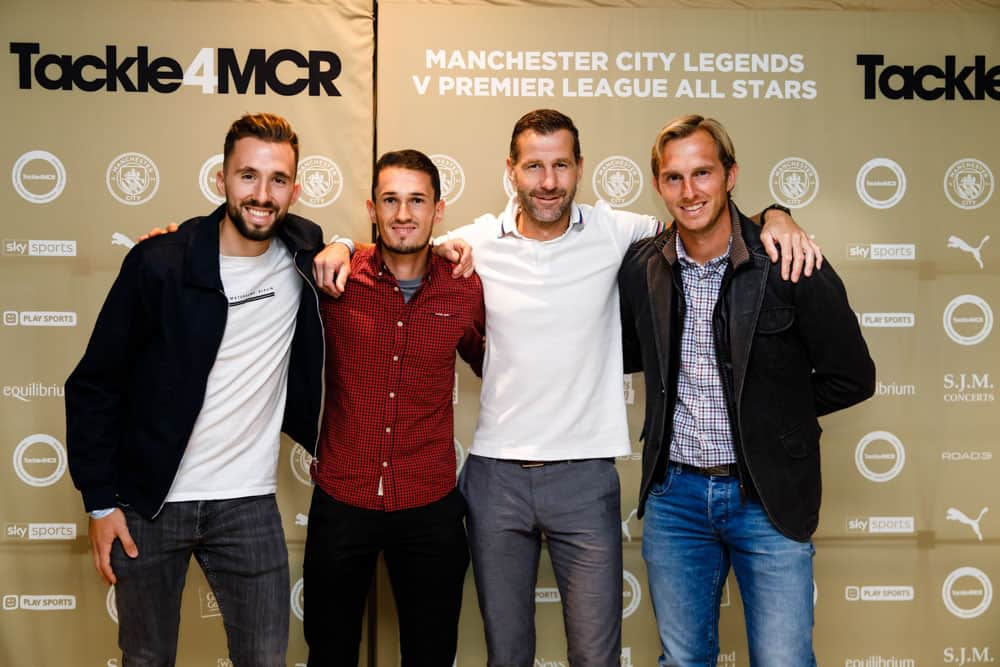 manchester city football club step and repeat celebrity entrance