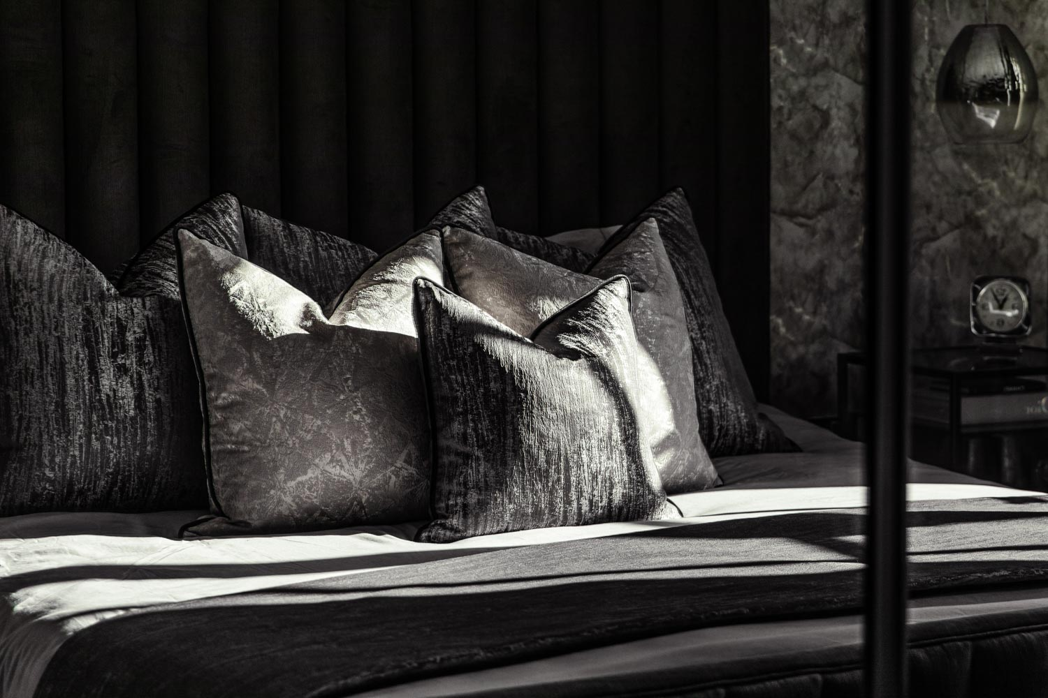 Interior Photography Cushions on a bed