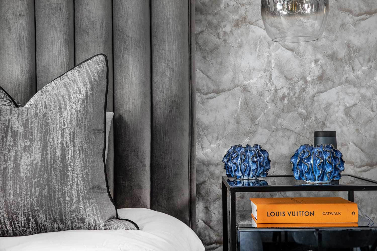 bedside table photography of a house interior