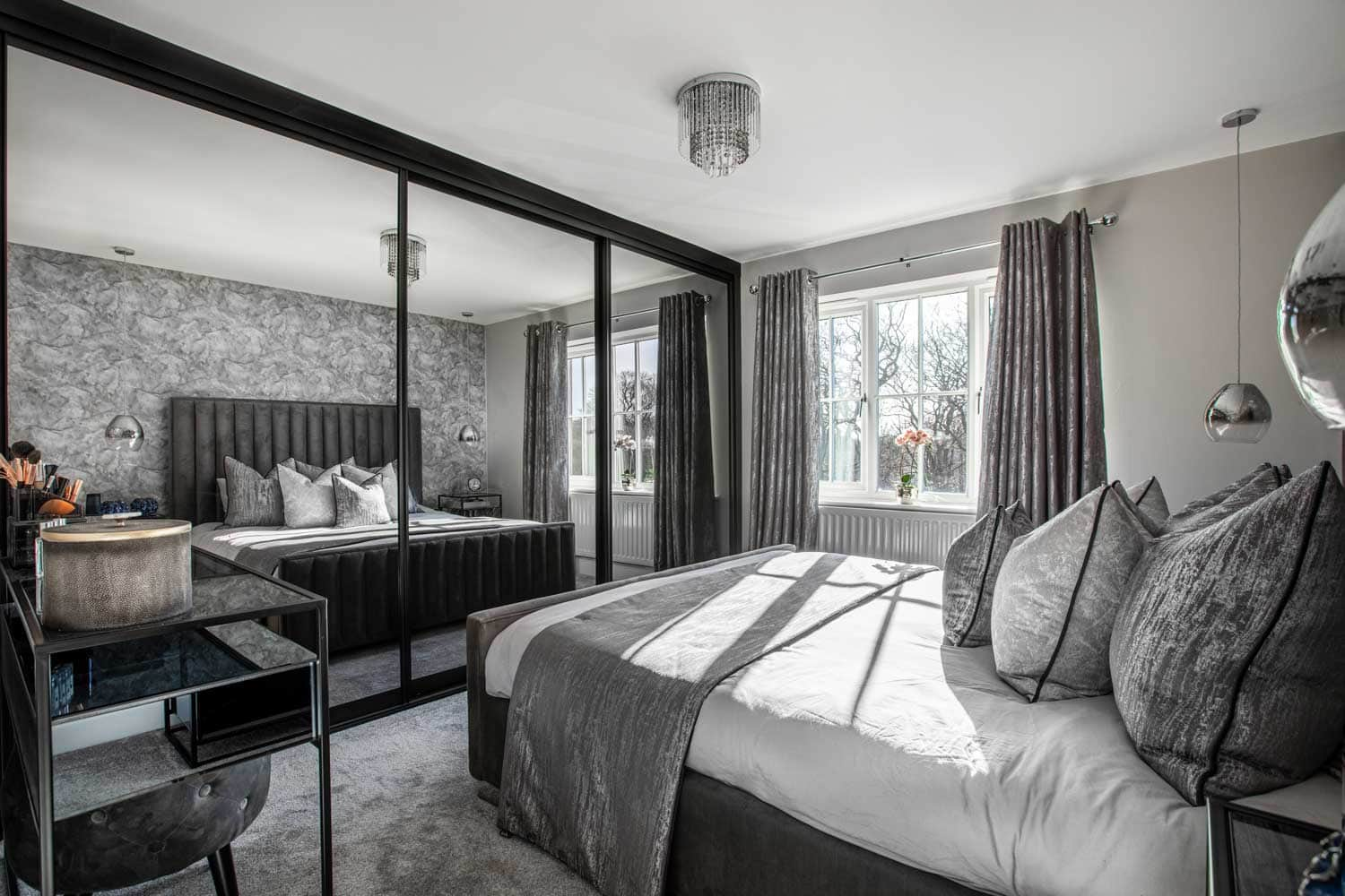 inside view of a bedroom in a house for interior designer
