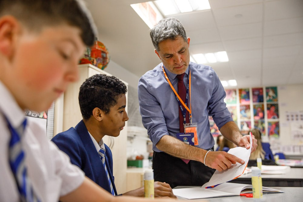Commercial Photographer Manchester photo of teacher in classroom
