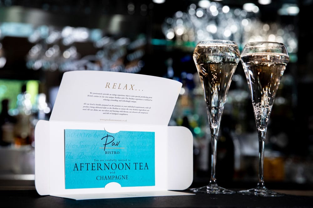 Commercial Photographer Manchester photo of afternoon tea voucher