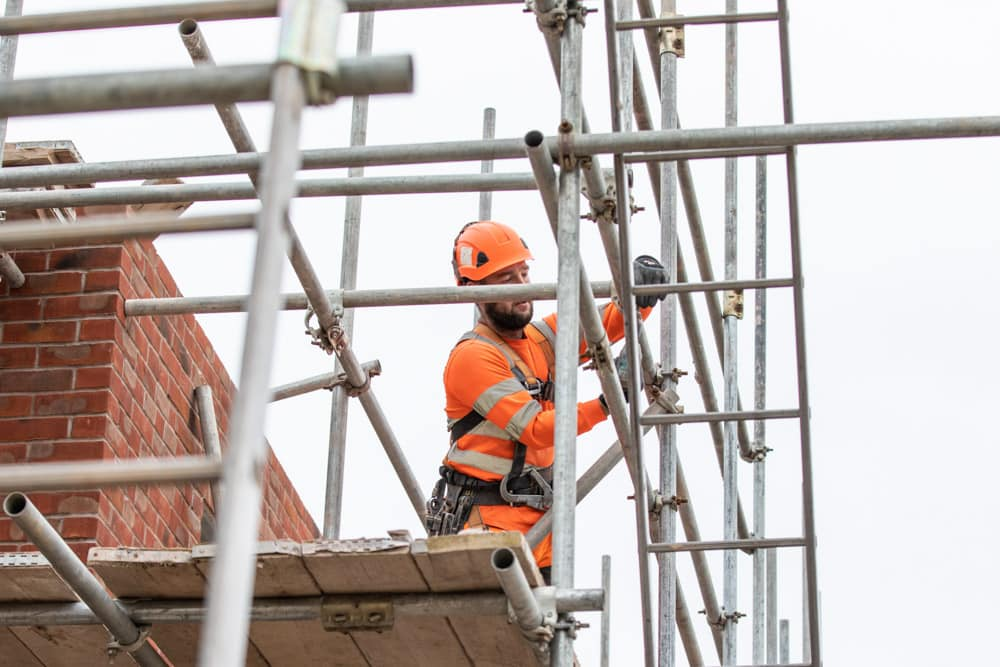Commercial Photographer Manchester photo of scaffolding
