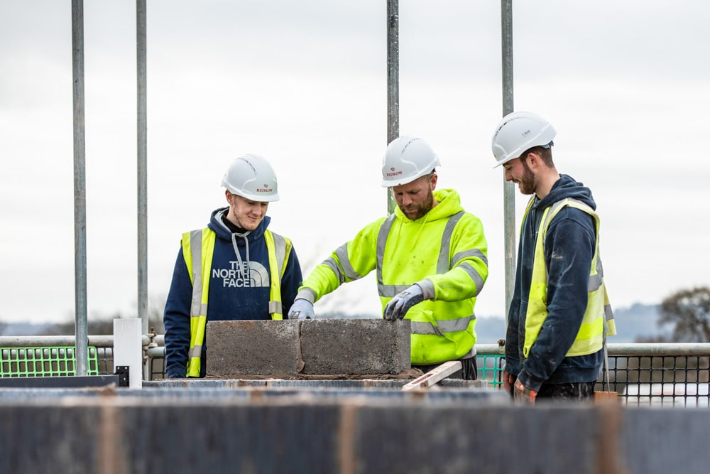 Commercial Photographer Manchester photo of bricklayers