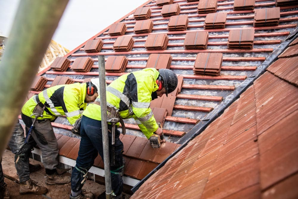 Commercial Photographer Manchester photo of roofers