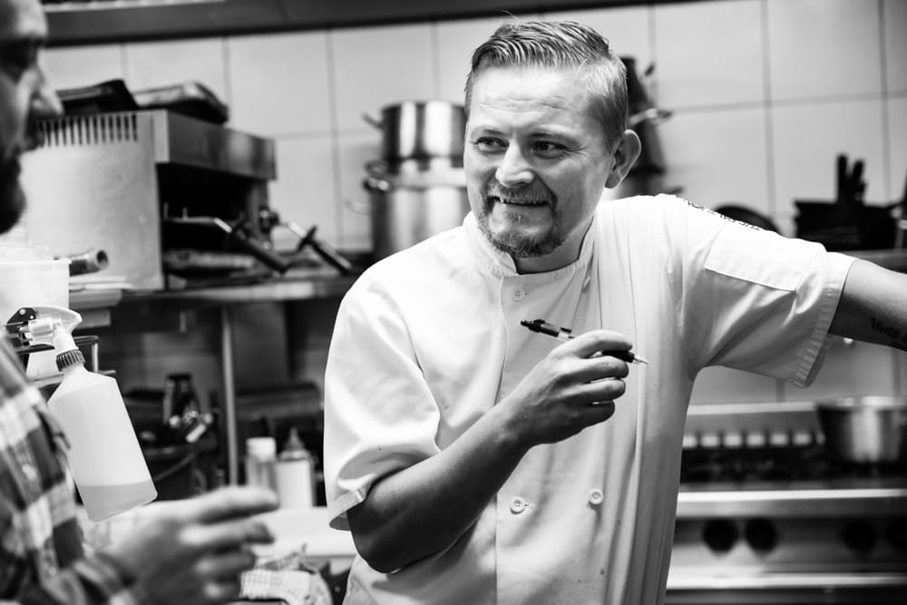 Commercial Photographer Manchester photo of chef in action