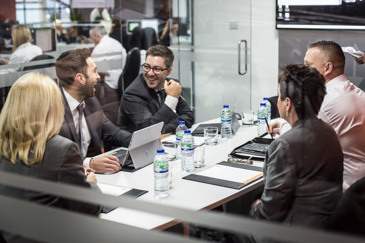 Commercial Photographer Manchester photo of meeting in meeting room