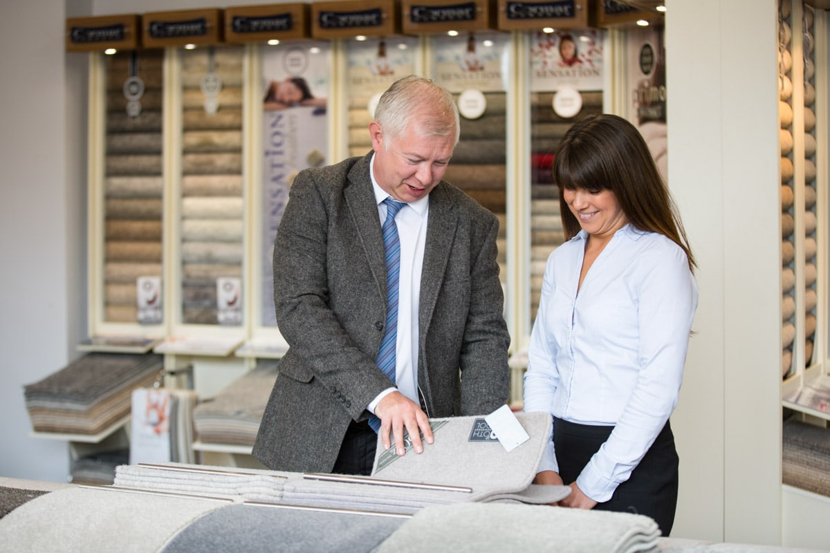 Commercial Photographer Manchester photo of carpet manufacturer