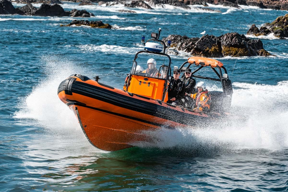 Commercial photoshoot in st abbs scotland for a recruitment campaign