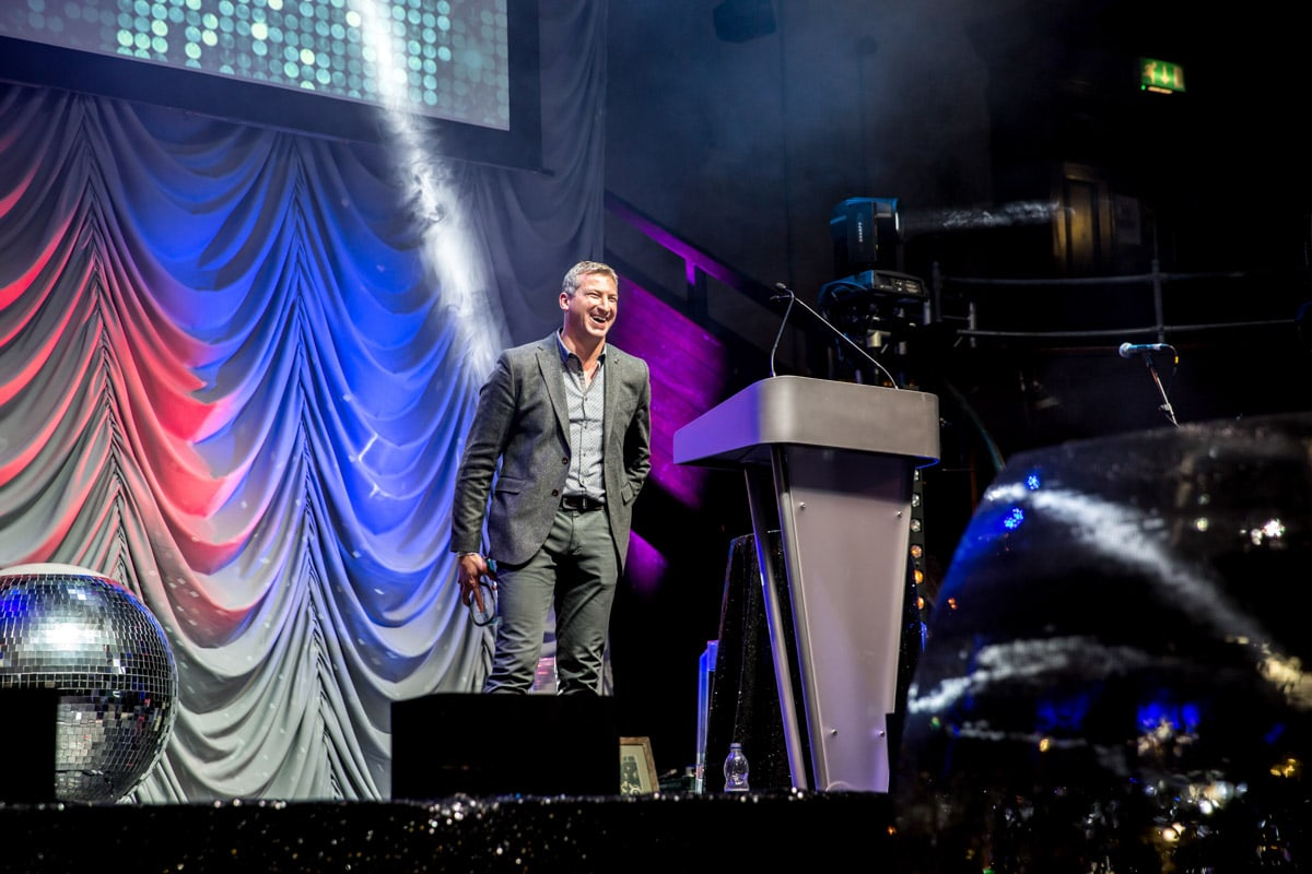 speaker at conference at the albert hall manchester