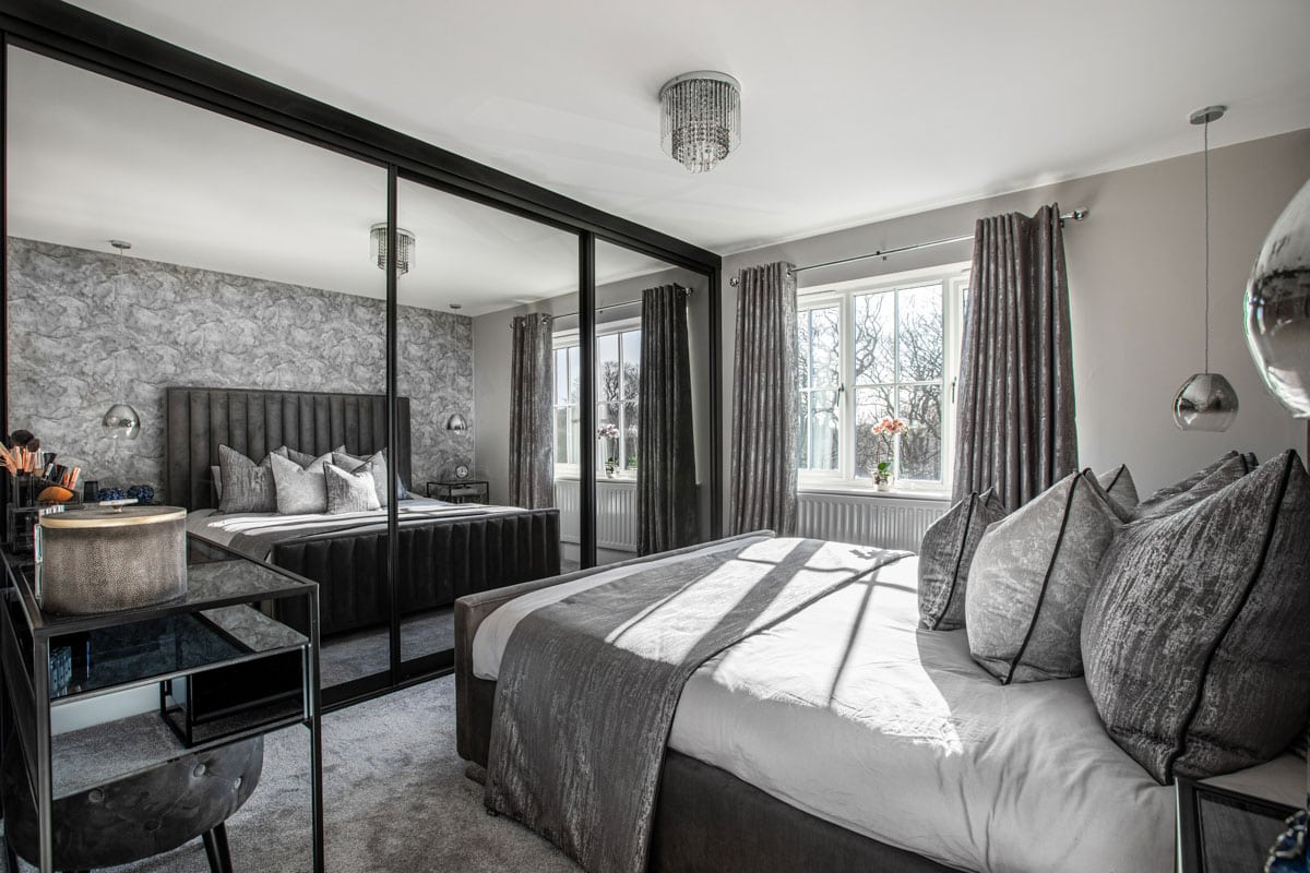 Grey bedroom colour scheme